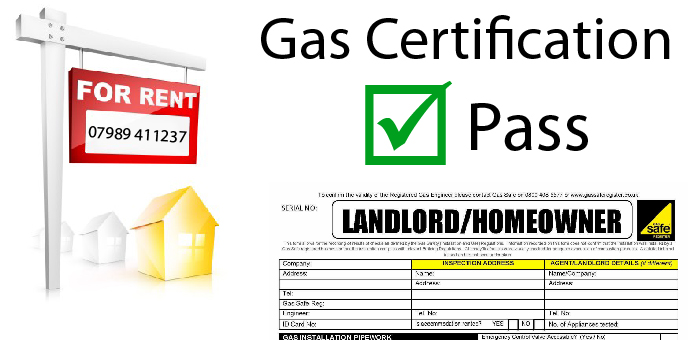 Gas safety certificate certification